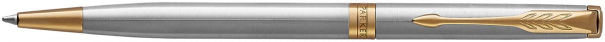 Parker Sonnet Slim Ballpoint Pen - Stainless Steel Gold Trim