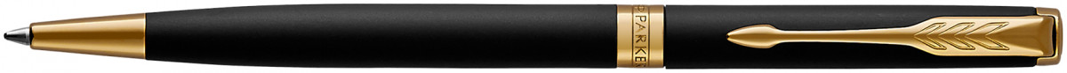 Parker Sonnet Slim Ballpoint Pen - Matte Black Gold Trim
