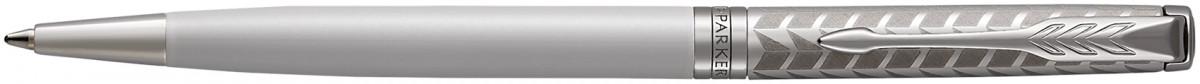 Parker Sonnet Slim Ballpoint Pen - Metal Pearl Lacquer Chrome Trim