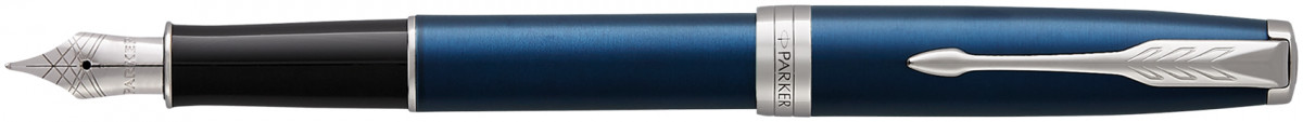 Parker Sonnet Fountain Pen - Blue Lacquer Chrome Trim