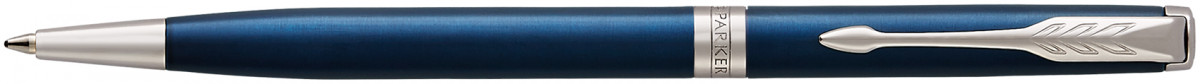 Parker Sonnet Slim Ballpoint Pen - Blue Lacquer Chrome Trim
