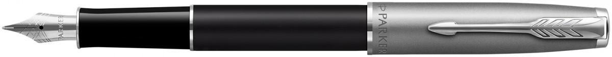 Parker Sonnet Essentials Fountain Pen - Matte Black & Sandblasted Steel