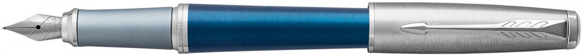 Parker Urban Premium Fountain Pen - Dark Blue Chrome Trim