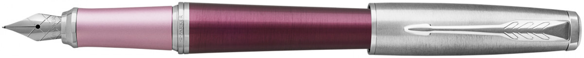Parker Urban Premium Fountain Pen - Dark Purple Chrome Trim