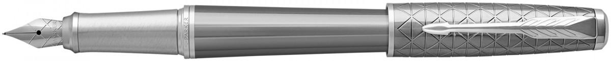 Parker Urban Premium Fountain Pen - Silvered Powder Chrome Trim