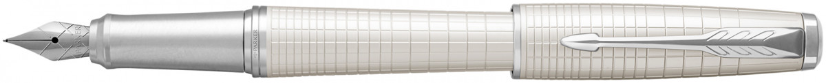 Parker Urban Premium Fountain Pen - Metallic Pearl Chrome Trim
