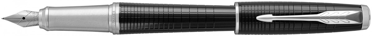 Parker Urban Premium Fountain Pen - Metallic Ebony Chrome Trim
