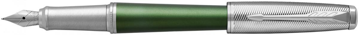 Parker Urban Premium Fountain Pen - Green Chrome Trim