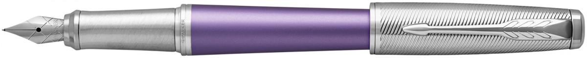 Parker Urban Premium Fountain Pen - Violet Chrome Trim