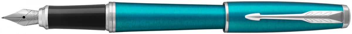 Parker Urban Fountain Pen - Vibrant Blue Chrome Trim