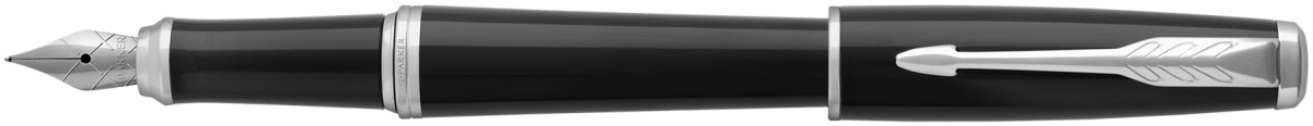 Parker Urban Fountain Pen - Black Cab Chrome Trim