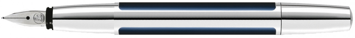 Pelikan Pura Fountain Pen - Blue & Silver