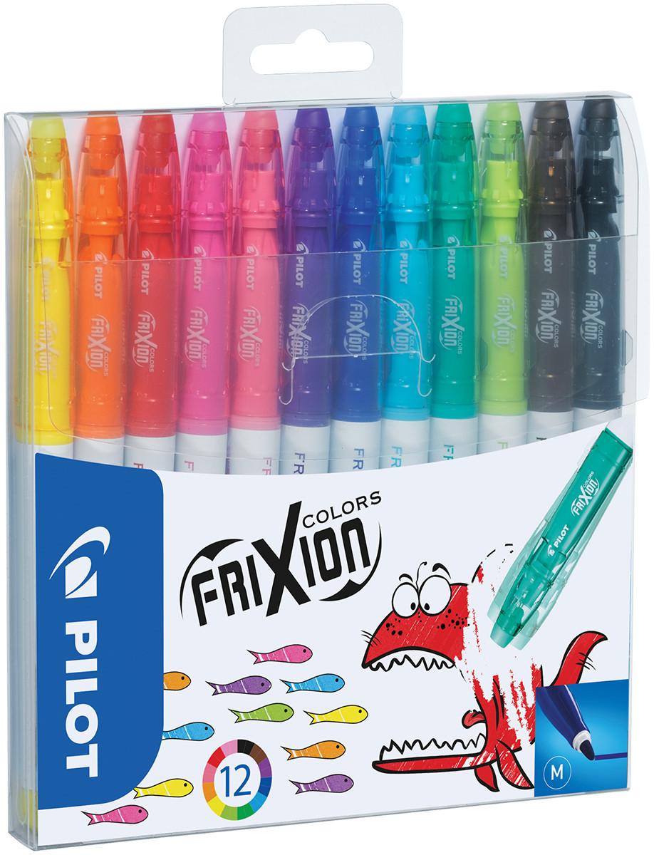 Pilot FriXion Colors Erasable Fibre Tip Pen - Assorted (Pack of 12)
