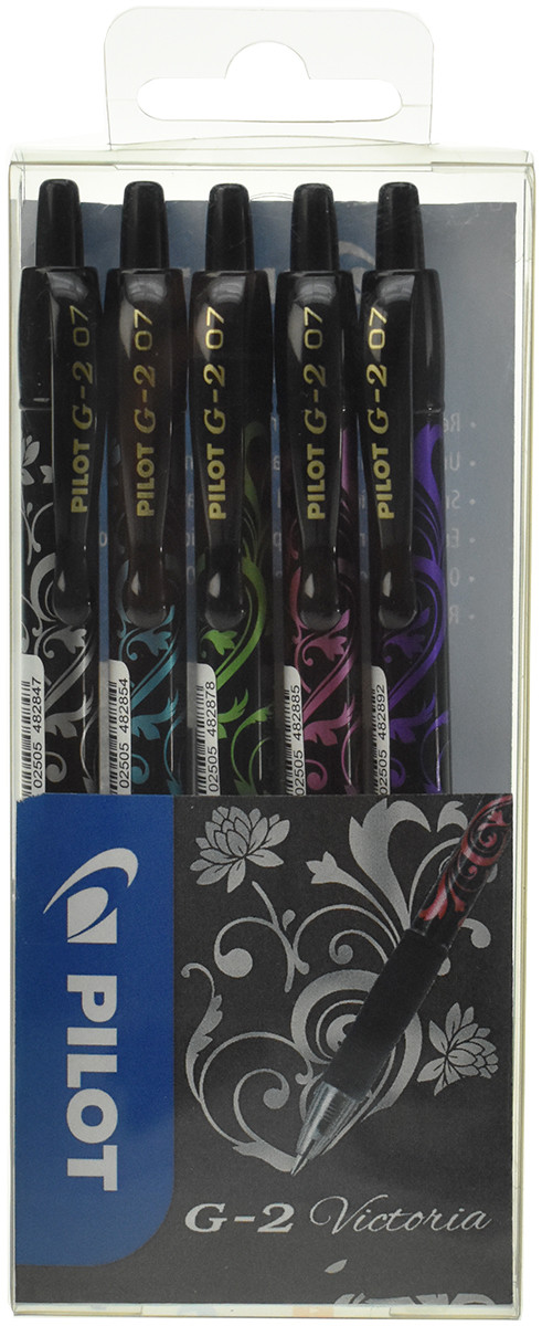 Pilot G-207 Victoria Rollerball Pen - Assorted (Pack of 5)