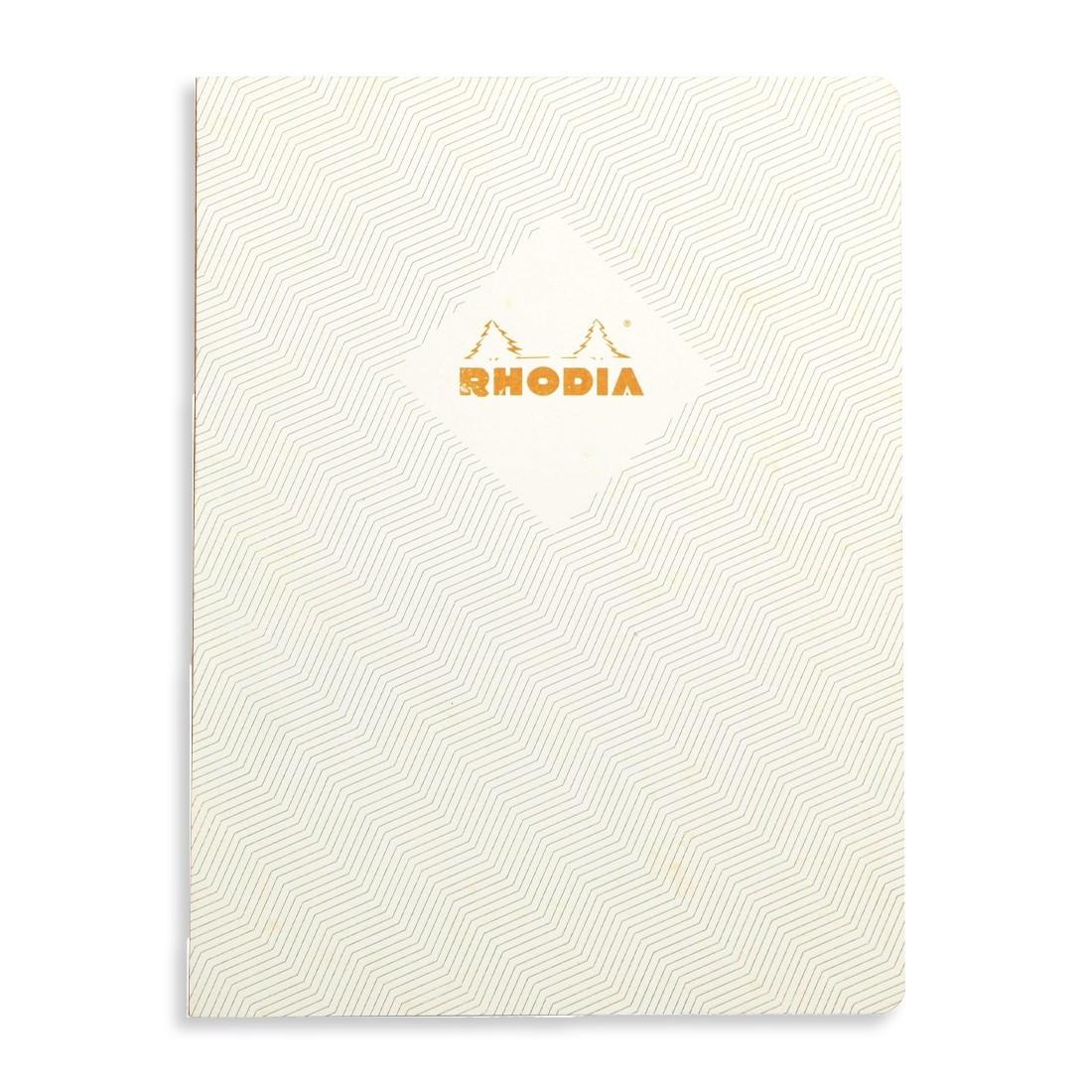 Rhodia Heritage Notebook - Ivory Chevrons