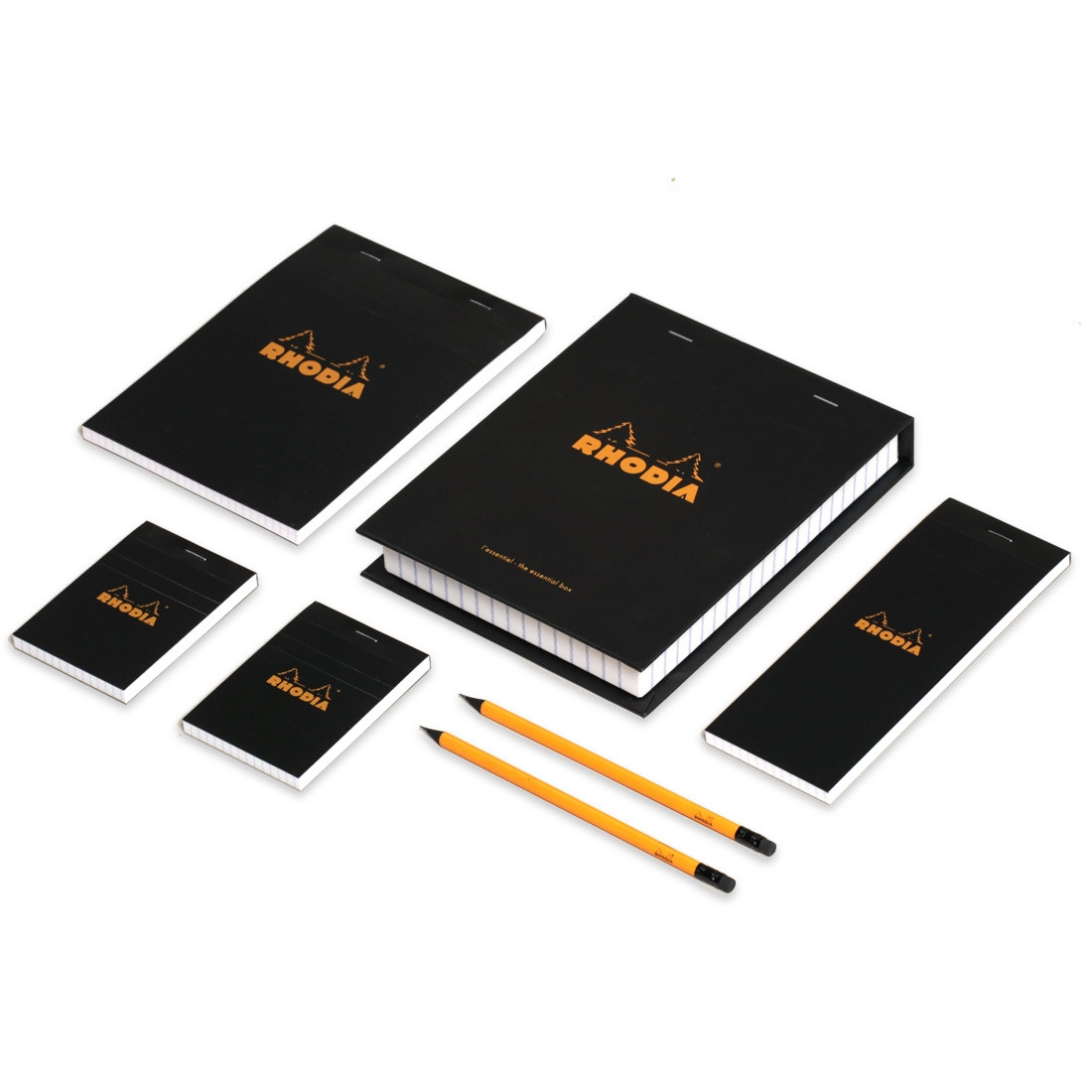 Rhodia Essential Treasure Box - 4 Assorted Notepads in an Executive Desk Set Box