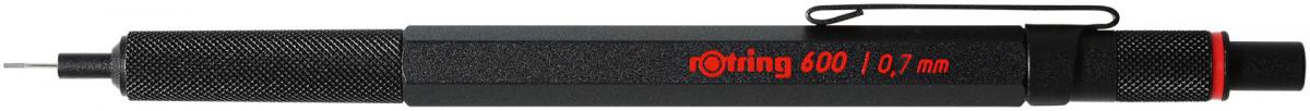 Rotring 600 Mechanical Pencil - Black Barrel - 0.70mm