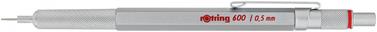 Rotring 600 Mechanical Pencil - Silver Barrel - 0.50mm