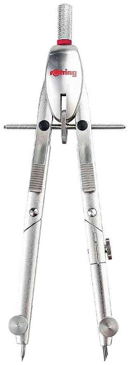 Rotring Centro Giant Bow Rapid Adjustment Compass - Silver