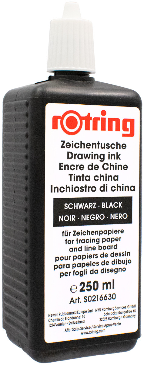 Rotring Isograph Ink Bottle (250ml) - Black