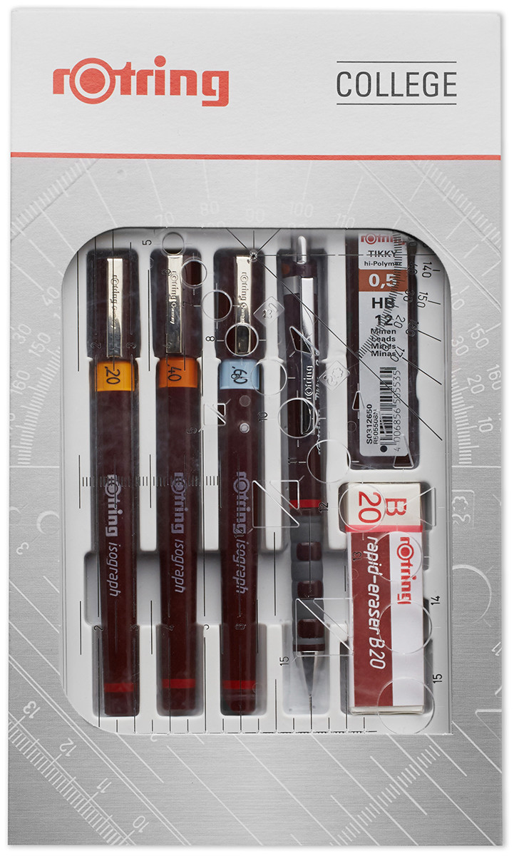 Rotring Isograph College Set - 0.20mm/0.40mm/0.60mm