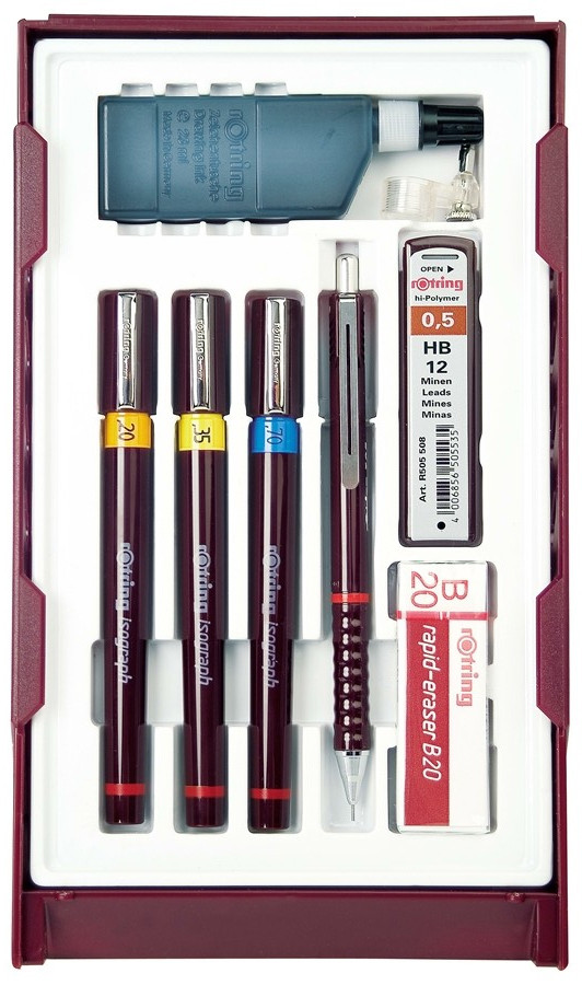 Rotring Isograph College Set - 0.20mm/0.40mm/0.80mm