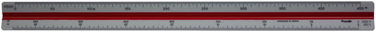 Rotring Surveying Triangular Reduction Scale - 1:25 to 1:2500