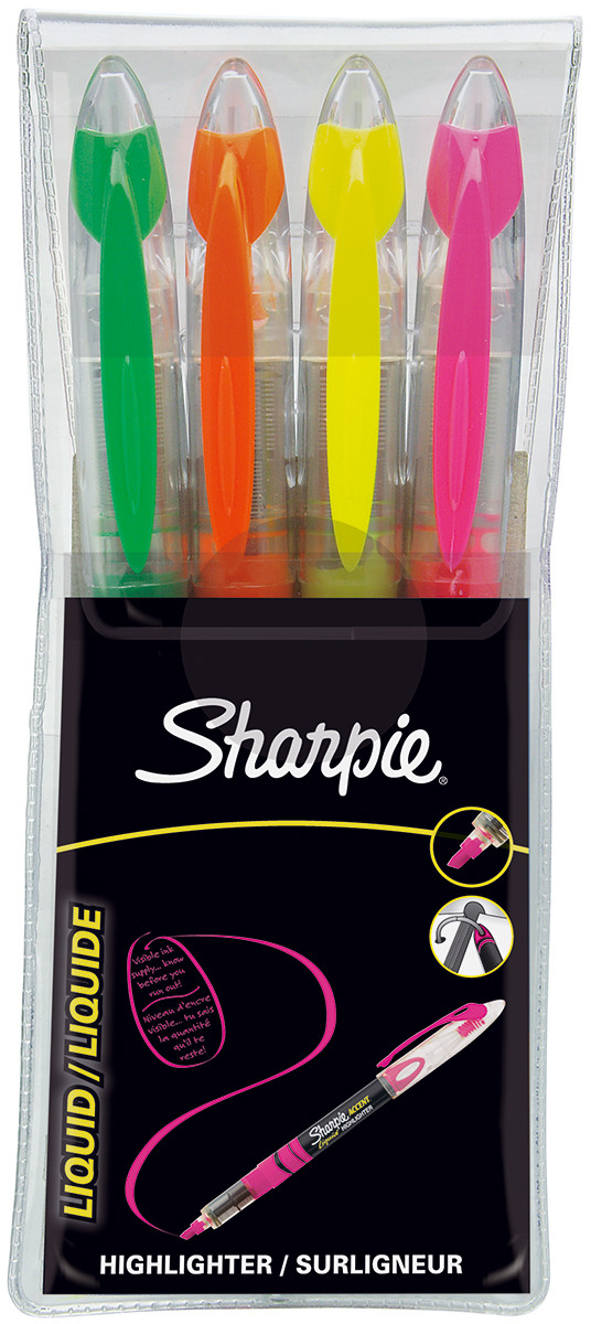 Sharpie Accent Liquid Highlighter - Assorted Colours (Pack of 4)