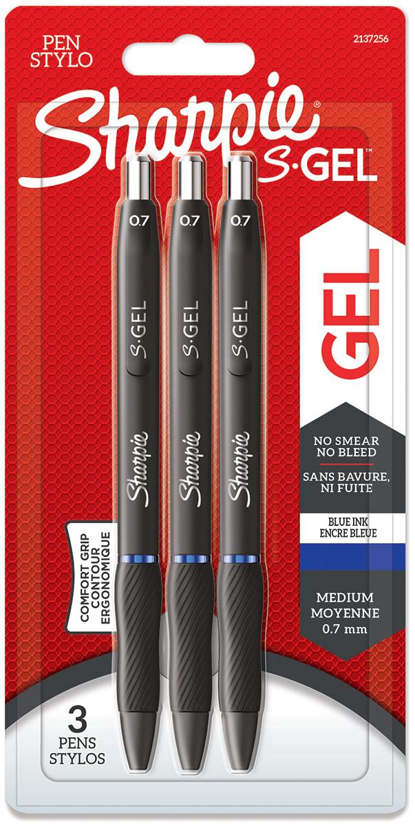 Sharpie S Gel Pens - Blue (Blister of 3)