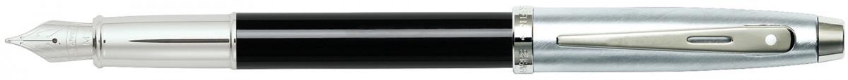 Sheaffer 100 Fountain Pen - Gloss Black Brushed Chrome