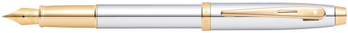 Sheaffer 100 Fountain Pen - Medalist Chrome & Gold (Clamshell)