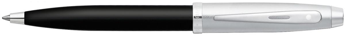 Sheaffer 100 Ballpoint Pen - Gloss Black Brushed Chrome