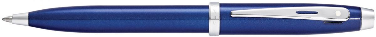 Sheaffer 100 Ballpoint Pen - Blue Lacquer Chrome Trim