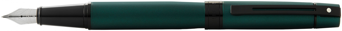 Sheaffer 300 Fountain Pen - Matte Green Lacquer PVD Trim