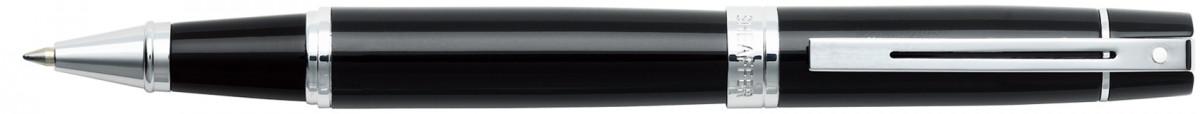Sheaffer 300 Rollerball Pen - Gloss Black Chrome Trim