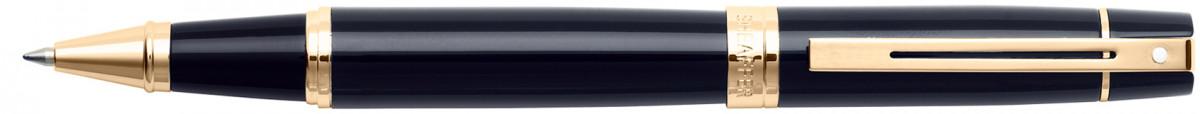 Sheaffer 300 Rollerball Pen - Gloss Black Gold Trim