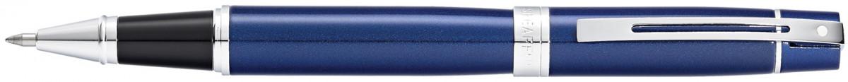 Sheaffer 300 Rollerball Pen - Blue Lacquer Chrome Trim