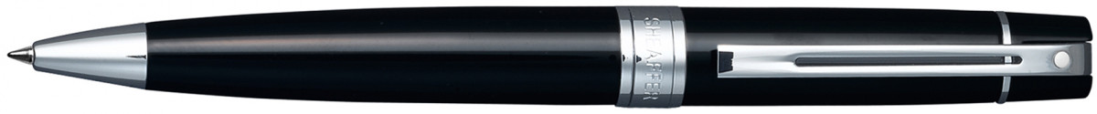 Sheaffer 300 Ballpoint Pen - Gloss Black Chrome Trim