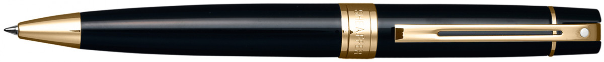 Sheaffer 300 Ballpoint Pen - Gloss Black Gold Trim