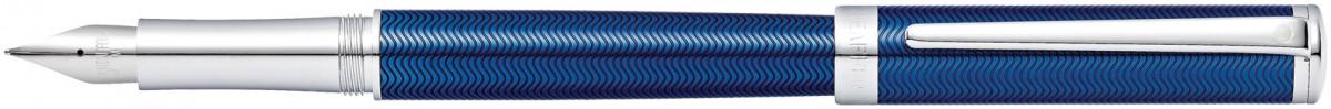 Sheaffer Intensity Fountain Pen - Translucent Blue Chrome Trim