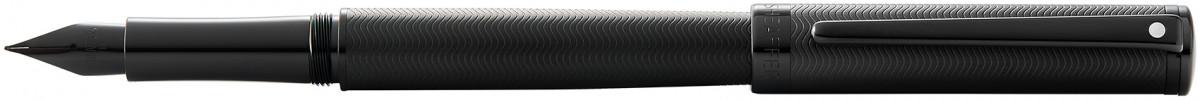 Sheaffer Intensity Fountain Pen - Engraved Matte Black PVD Trim