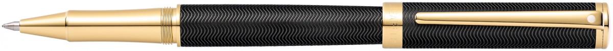 Sheaffer Intensity Rollerball Pen - Matte Black Gold Trim