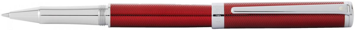 Sheaffer Intensity Rollerball Pen - Engraved Translucent Red Chrome Trim