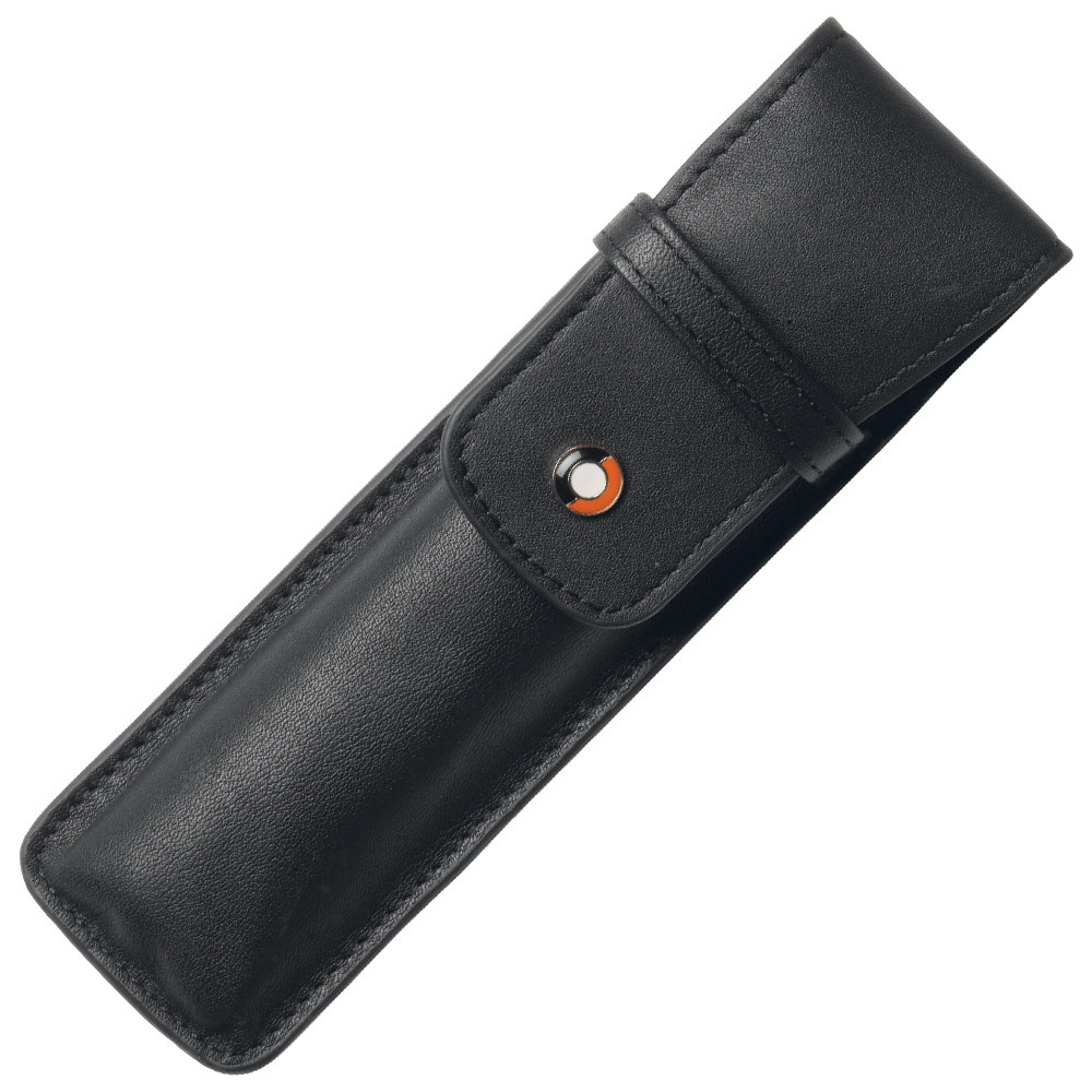 Sheaffer Double Pen Pouch - Black Leather