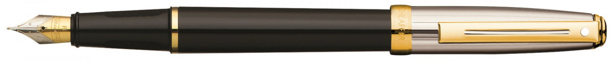 Sheaffer Prelude Fountain Pen - Black and Palladium Gold Trim