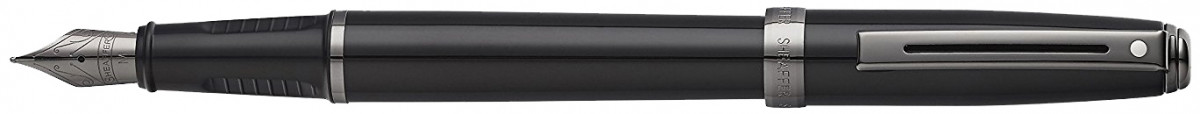 Sheaffer Prelude Fountain Pen - Gloss Black Gunmetal Trim