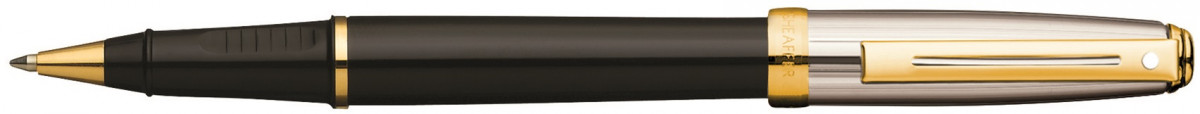 Sheaffer Prelude Rollerball Pen - Black and Palladium Gold Trim
