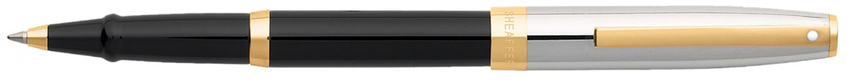 Sheaffer Sagaris Rollerball Pen - Black Lacquer Chrome & Gold