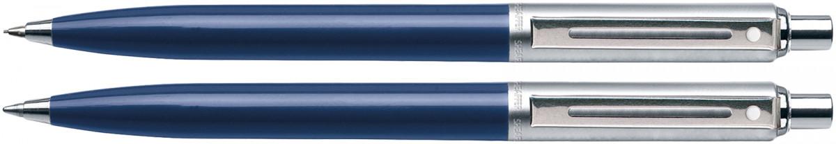 Sheaffer Sentinel Ballpoint Pen & Pencil Set - Blue Nickel Trim