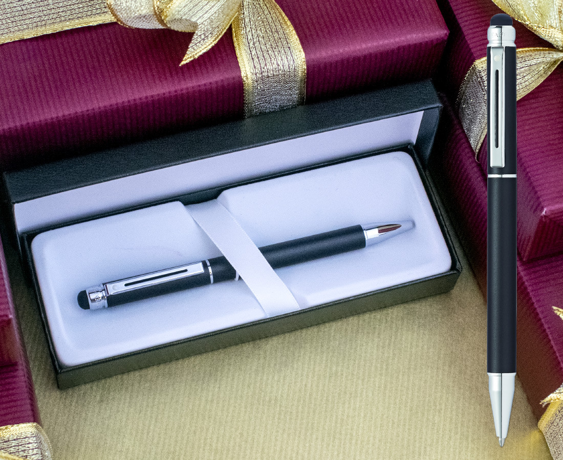 Sheaffer Switch Ballpoint Pen - Metallic Black Chrome Trim